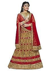 Manvaa Women's Beige Colour Bollywood style lehenga choli