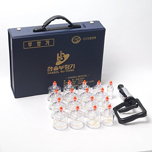 new-hansol-professional-cupping-therapy-equipment-set-with-pumping-handle-17-cups