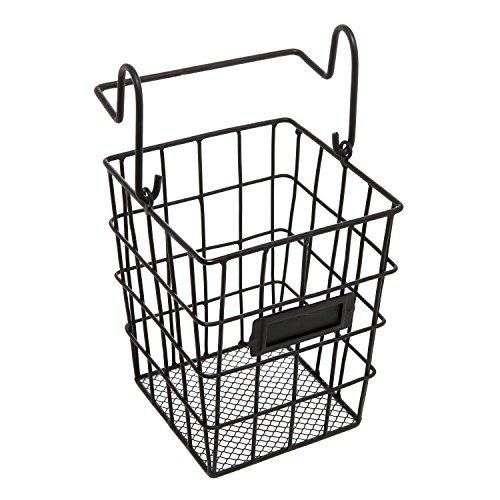 Modular Black Metal Mesh Wire Hanging Kitchen & Dining Utensils Storage Basket / Bathroom Toiletries Holder Basket (Bathroom Modular compare prices)