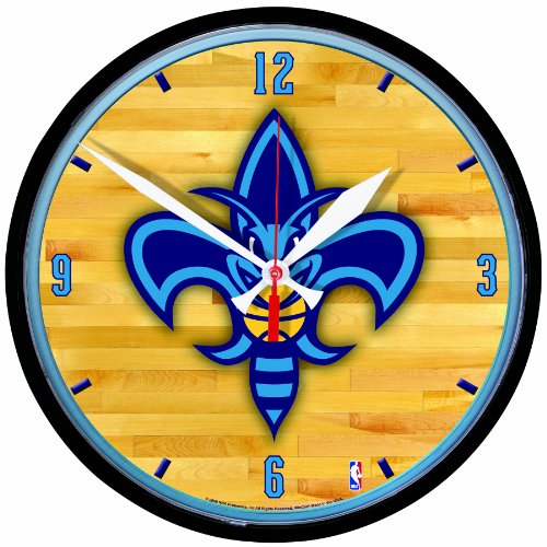 NBA New Orleans Hornets Round Clock