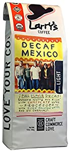 Larry's Beans Fair Trade Organic Coffee, Decaf Mexico, Whole Bean, 12-Ounce Bags (Pack of 3)