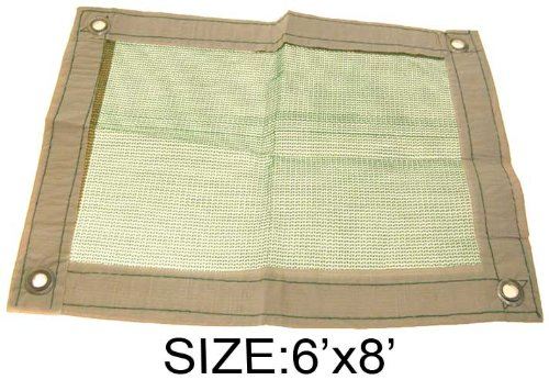 Hawk TST-0608 6-foot x 8-foot Net Tarp, Tan
