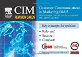 img - for CIM Revision Cards: Customer Communications in Marketing 04/05 book / textbook / text book