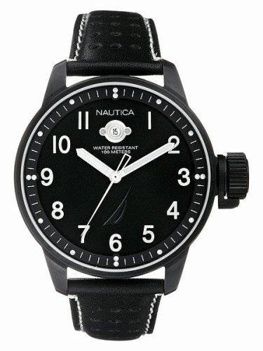 Nautica Men's Black Leather Strap Black Dial Watch - Buy Nautica Men's Black Leather Strap Black Dial Watch - Purchase Nautica Men's Black Leather Strap Black Dial Watch (Nautica, Jewelry, Categories, Watches, Men's Watches, Casual Watches)