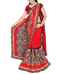 Kartik Fashion Women's Georgette Saree - K92_Multi-Coloured