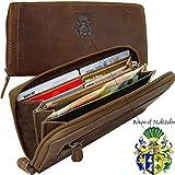 BARON of MALTZAHN Geldbörse Langbörse Portemonnaie OPPENHEIMER aus braunem Grassland Leder