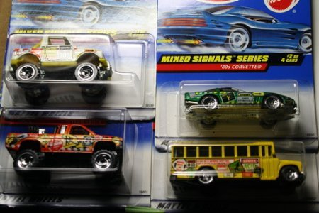 Hot Wheels 1998 Mixed Signals Series Complete Set of 4