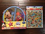 Disney Mickey Mouse Clubhouse Music Instrument Set - Drum, Maracas, Tambourine, Harmonica with Mickey Sticker