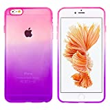 MORE CRYSTAL iPhone6 / iPhone6s(4.7インチ)用 グラデーション TPUケース パープルピンク スマホ スマートフォン ケース カバー スマホカバー スマホケース iPhone6 iPhone6s アイフォン6ケース アイフォン6sケース 携帯カバー シリコンケース ソフトケース 人気 トレンド 手帳型 フリップケース スタンド a058 15ID12-3-PURPNK
