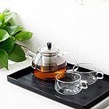 3S Glass Teapot Loose Leaf Tea Maker Stovetop Safe Tea Kettle 900ML