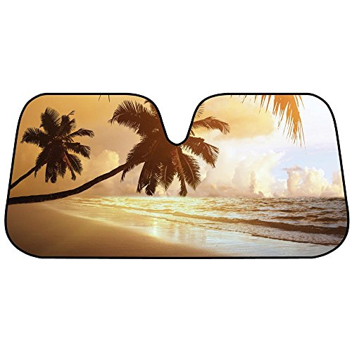 golden-palm-tree-beach-sunset-auto-sun-shade-for-car-suv-truck-bubble-foil-folding-accordion-for-win