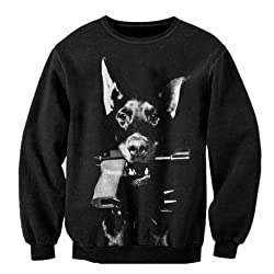 SASC146 animal dog galaxy sweatshirt Pullovers long sleeve pet print 3d hoodies top