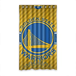 SNOWY Custom NBA Golden State Warriors Shading Polyester Room Window Curtains 50\