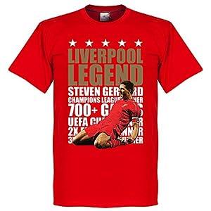 Steven Gerrard Legend T-Shirt - Red/Gold - XL from Retake