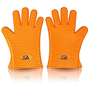 Cooking Gloves Heat Resistant Premium Insulated Grilling Gloves For Cooking, Pot Holders, Oven Mitt and BBQ Gloves With Free 444 Page Grilling Recipes Ebook Included