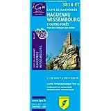 Top25 3814ET ~ Haguenau, Wissembourg carte de randonnée avec une règle graduée gratuite