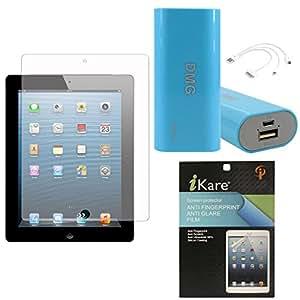 iKare Ultra Clear Pack of 2 Anti-Glare Anti-Scratch Anti-Fingerprint Screen Protector for Samsung Galaxy Tab 3 Lite / Neo T111 7inch + 3600 mAh Power Bank