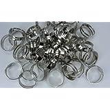 Metal Blank Rings Base Findings DIY Supplies Pad Accessories Making Adjustable 50 Pieces