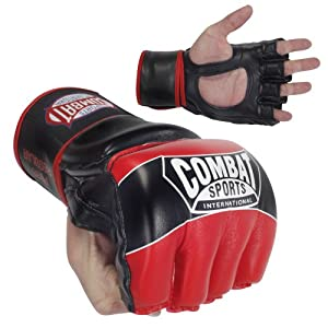 Combat Sports Pro-Style MMA Gloves, Red, Large