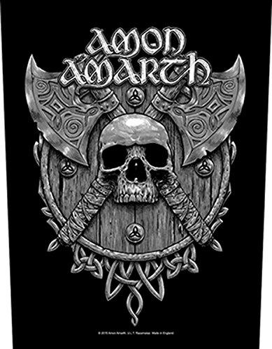 Amon Amarth Skull and Axes Back patch Nero nero taglia unica