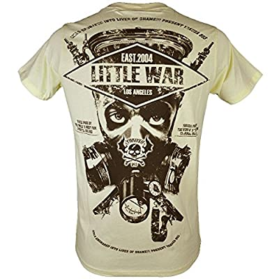 Yakuza T-Shirt Herren Round Neck TSB 620 Little War Pale Banana
