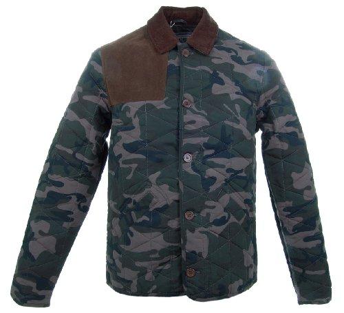 D-Struct 'Chinook' Men's Classic Quilted Winter Jacket Dark Camo XL