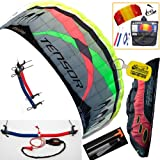 Prism Tensor 4.2 Power Foil Kite (Red) 3-Line Control Bar Trainer Bundle: Includes FREE... by Prism, HQ, WindBone