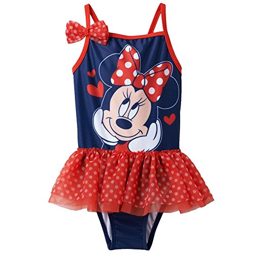 Disney Toddler Girl Minnie Mouse Tutu One Piece Swimsuit