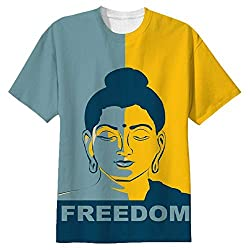 Snoogg Buddha Freedom Mens Casual All Over Printed T Shirts Tees