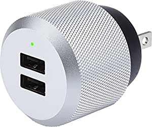 Just Mobile Aluminum High-Power Dual-Port Wall Charger for Universal/Smartphones