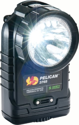 Pelican Right Angle 3765 Led Rechargeable Flashlight, Black
