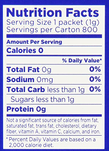 Equal Zero Calorie Sweetener - 800 Packets (2 Pack) - Total 1600 Packets