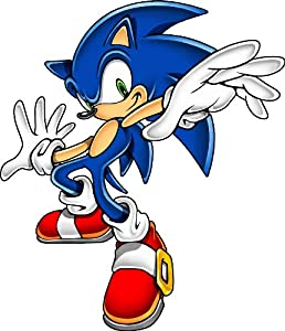 Sonic the hedgehog wall decal kids sticker cartoon 4 x 5 automotive decals - Sonic wall decals ...