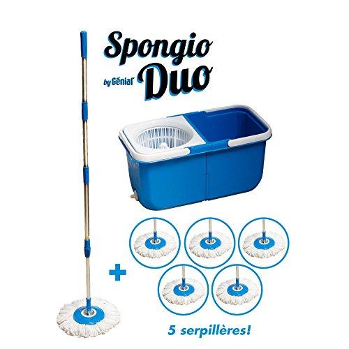balai-serpillere-360-6-lingettes-2-bacs-separes-turbo-mop-spongio-nouvelle-generation