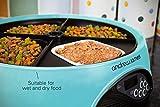Andrew James - Programmierbarer Automatischer Futterautomat Haustierfütterer Für 4 Tage Oder 4 Mahlzeiten In Hellblau - Mit Sprachaufnahme-Funktion - Inklusive 2x Volumenreduzierer + 1 Adaptereinsatz -