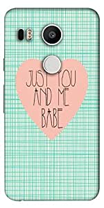 Snoogg Just You And Me Babe Designer Protective Back Case Cover For Lg Google...