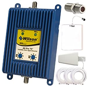Wilson AG Pro 70 db Dual Band Cellular Signal Booster Complete Kit