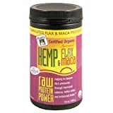 51H9XACAMVL. SL160  Ruths Organic Hemp Sprouted Flax & Maca, Raw Protein Power, 16 Ounce Canister