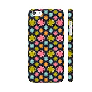 Colorpur Multicolor Small And Big Circles Designer Mobile Phone Case Back Cover For Apple iPhone 5 / 5s | Artist: Designer Chennai