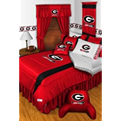 Georgia Bulldogs 8 Pc QUEEN Comforter Set (Comforter, 1 Flat Sheet, 1 Fitted Sheet, 2... by Sports Coverage