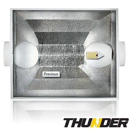 Thunder (TM) Sunlux XL 8-Inch White Air Coolable Reflector for Plants with V-Hangers for Easy Mounting. (5 Year Manufacturer Warranty !) new original nj15 u2 n warranty for two year