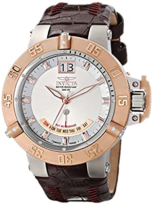 Invicta Men's 1576SYB Subaqua Analog Display Swiss Quartz Brown Watch