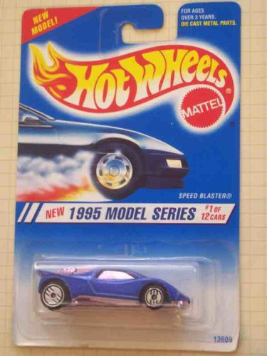 1995 #1 Speed Blaster Blue Ultra Hot Wheels Pink Chrome And Windows 1995 New Models Mint #343 1:64 Scale - 1