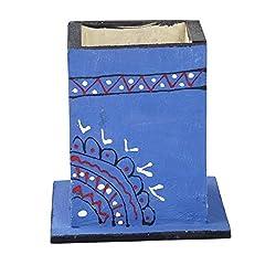 A&E Kutch Marvelous Wood pen holder, Blue