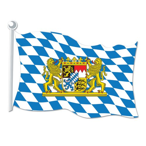 Bavarian Flag Cutout Party Accessory (1 count) - 1