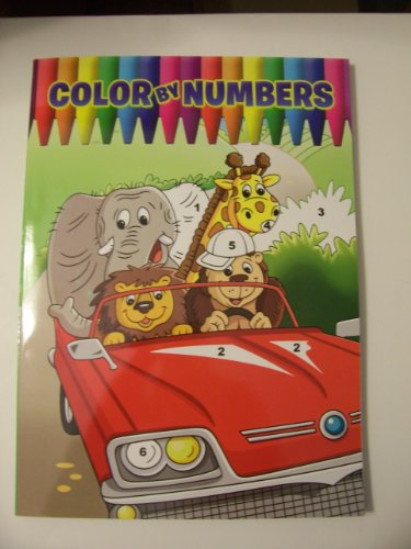 Color by Numbers Coloring Book ~ Animal Adventure (2012)