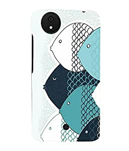 printtech Abstract Fish Design Back Case Cover for Micromax Android A1::Micromax Canvas A1 AQ4502