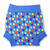 Splash About Kid's Happy Nappy Original Neoprene Swim Nappy - Blue Coloured Dots, Large