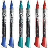 Quartet Dry Erase Markers 12 Pk, EnduraGlide, Fine Tip, BOLD COLOR, Assorted Primary Colors (5001-10SECR)