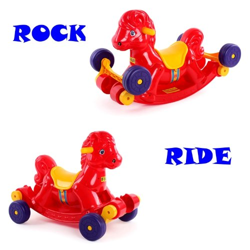 Rock & Ride Pony 2-In-1 Old Fashion Ride On Toy Horse (Color May Vary) front-348397